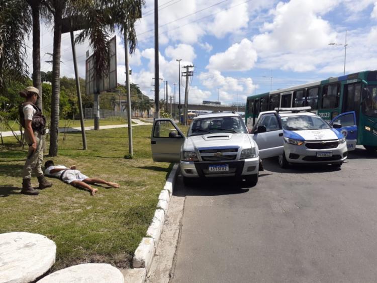 O suspeito confessou que havia deixado o comparsa com os materiais no meio do caminho e seguiu sozinho   Foto: Divulgação   SSP - Foto: Divulgação   SSP