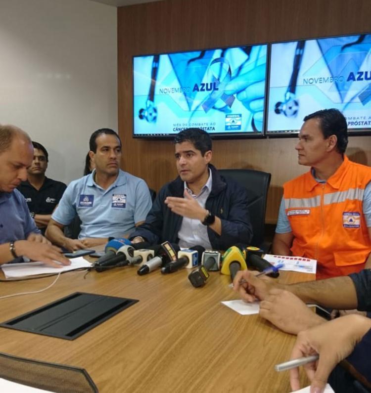 ACM Neto afirmou que apesar do número alto de ocorrência, não houve nenhuma vítima fatal | Foto: Raul Aguillar | Ag. A TARDE - Foto: Raul Aguillar | Ag. A TARDE