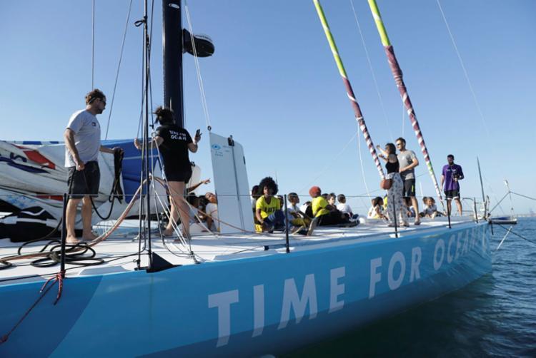 O veleiro chegou a Salvador na última terça-feira | Foto: Uendel Galter | Ag. A TARDE - Foto: Uendel Galter | Ag. A TARDE