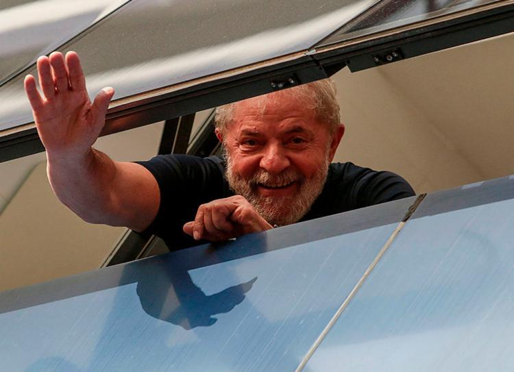 Ex-presidente está preso em Curitiba desde abril do ano passado | Foto: Miguel Schincariol | AFP - Foto: Miguel Schincariol | AFP