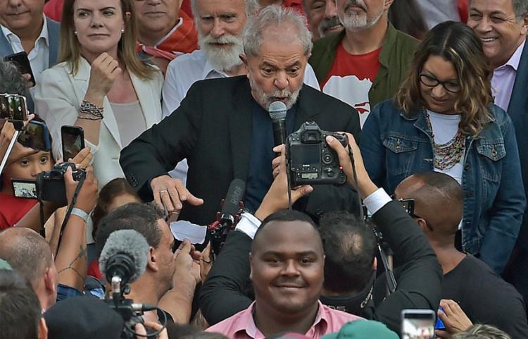 Petista indicou a linha do discurso que vai manter nos atos políticos | Foto: CARL DE SOUZA | AFP - Foto: CARL DE SOUZA | AFP