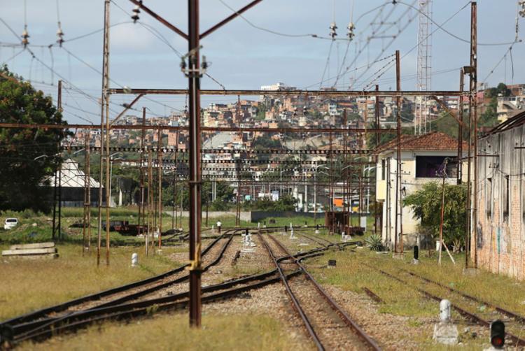 Ùnico trem que circulava sofreu pane   Raul Spinassé   Ag. A TARDE - Foto: Raul Spinassé   Ag. A TARDE