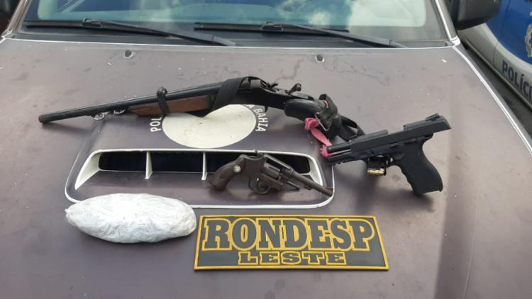 Suspeitos tinham armas, munições e drogas | Foto: Divulgação | SSP - Foto: Divulgação | SSP