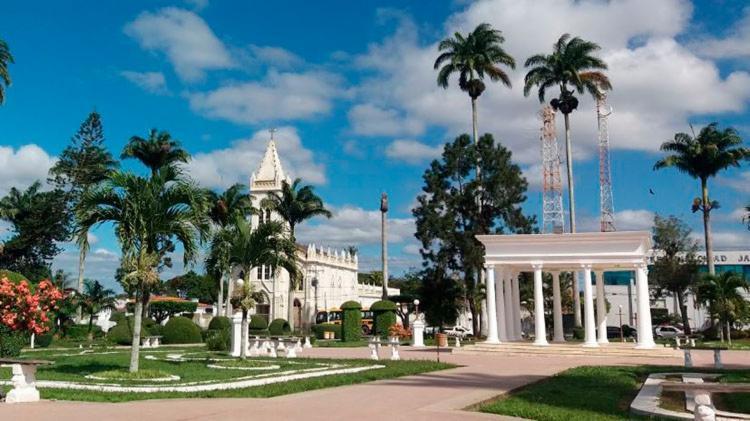 Praça Lourival Monte, no Centro de Amargosa | Reprodução - Foto: Reprodução