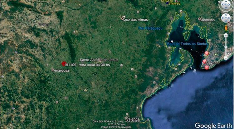O epicentro do tremor foi na cidade de Amargosa