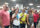 Campeã mundial de boxe, Bia Ferreira é recepcionada com festa em Salvador | Foto: Foto: Aurélio Lima | Ag. A TARDE