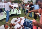 Em protesto no CAB, motoristas de app lembram tortura sofrida por colegas assassinados | Foto: Nicolas Melo | Ag. A TARDE
