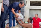 Câmara de Salvador distribui uma tonelada de alimentos para famílias vítimas das chuvas | Foto: Divulgação