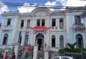 Ocupantes protestam contra corte de energia no antigo Hospital Couto Maia | Foto: Shagaly Ferreira | Ag. A TARDE