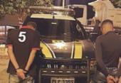 Suspeitos de roubo são presos pela PRF em Alagoinhas | Foto: Divulgação | PRF
