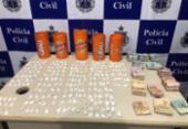 Homem é preso com mais de 250 papelotes de cocaína escondidos em casa | Foto: Ascom | PC