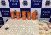 Homem é preso com mais de 250 papelotes de cocaína   Ascom   PC