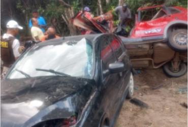 Dois motoristas ficam gravemente feridos em acidente na BA-986 | Reprodução | Radar 64