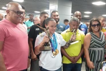 Baiana Bia Ferreira é recepcionada com festa em Salvador | Aurélio Lima | Ag. A TARDE