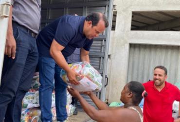 Câmara de Salvador distribui uma tonelada de alimentos para famílias vítimas das chuvas | Divulgação