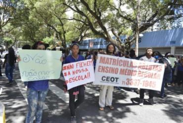 Estudantes protestam contra possível fechamento de escola em Salvador | Shirley Stolze | Ag. A TARDE