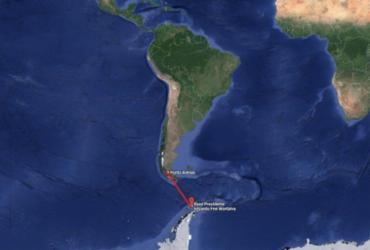 Navio brasileiro encontra destroços de avião chileno | Divulgação | Google Maps