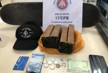 Suspeito de tráfico é preso enquanto levava drogas de Brotas para a Barra | Divulgação | SSP