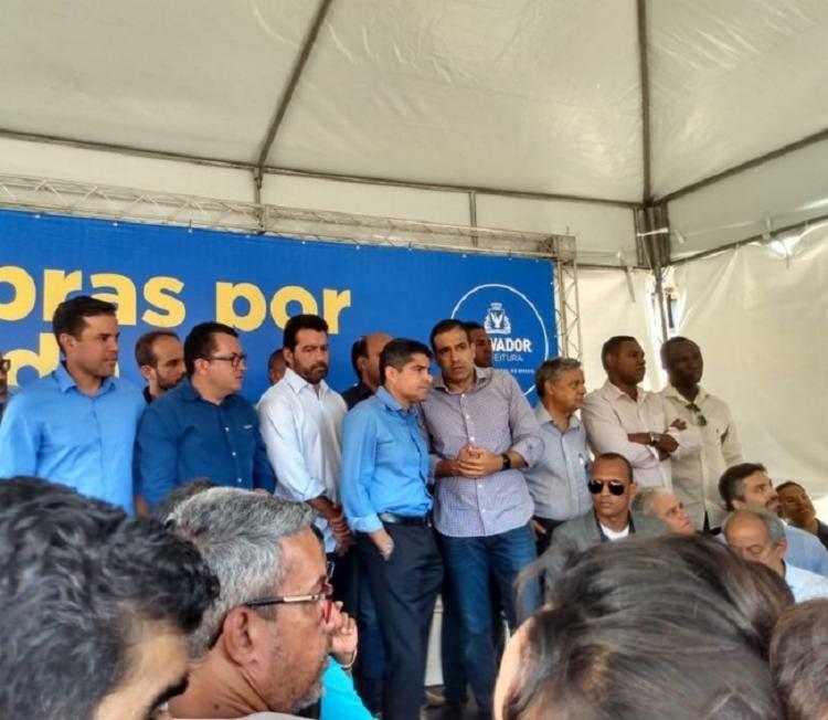 Declaração ocorreu durante ato no bairro de Pau da Lima | Foto: Jaqueline Suzart | Ag. A TARDE - Foto: Jaqueline Suzarte | Ag. A TARDE