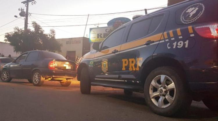 Jovem alegou que o veículo pertencia a seu tio | Divulgação | PRF - Foto: Divulgação | PRF