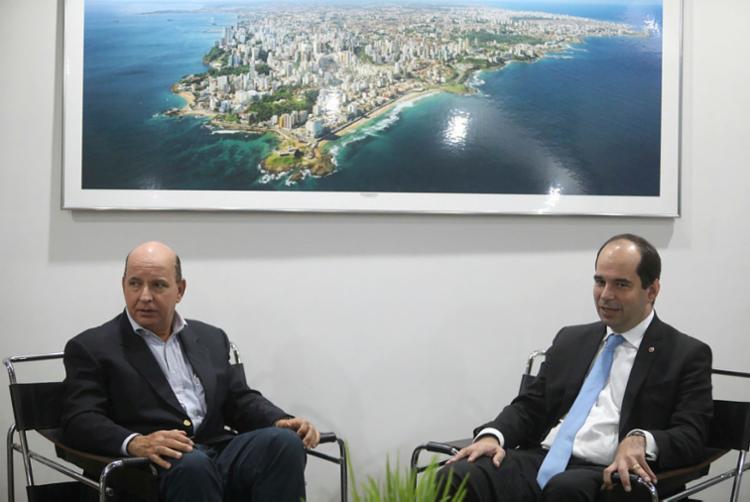 Alberto Bastos Balazeiro (à direita) realizou uma visita institucional ao Grupo A TARDE | Foto: Felipe Iruatã | Ag. A TARDE - Foto: Felipe Iruatã | Ag. A TARDE