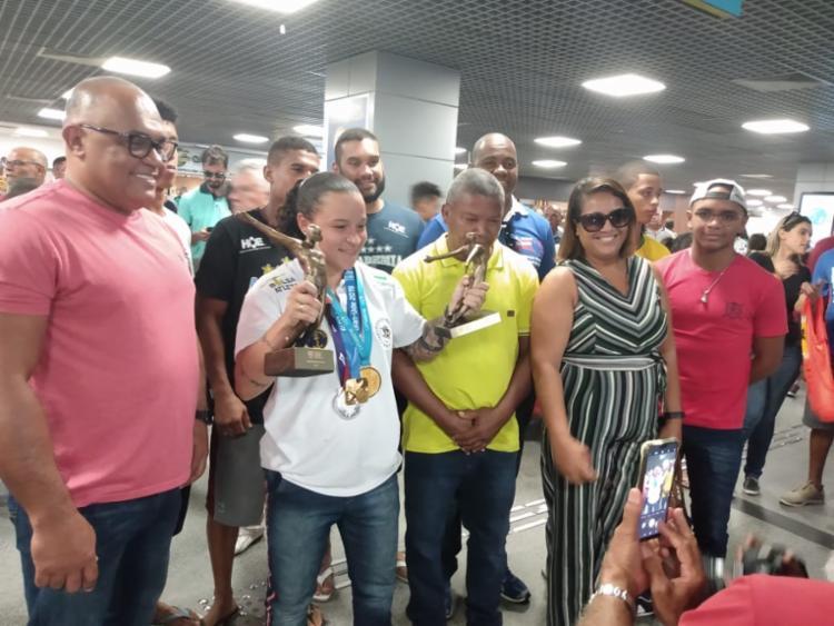 A boxeadora baiana foi escolhida na terça-feira, 10, como a melhor atleta entra as mulheres em 2019 | Foto: Aurélio Lima | Ag. A TARDE - Foto: Foto: Aurélio Lima | Ag. A TARDE