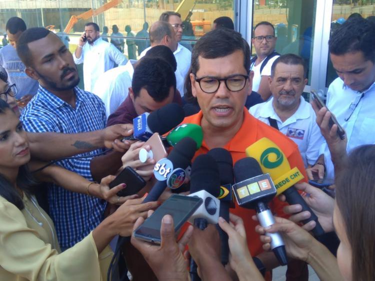 Anúncio do secretário ocorreu durante coletiva de imprensa em Salvador   Foto: Shagaly Ferreira   Ag. A TARDE - Foto: Shagaly Ferreira   Ag. A TARDE