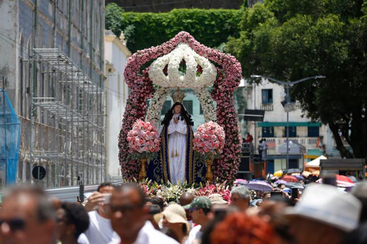 Festa comemora 470 anos de devoção à Santa | Foto: Rafael Martins | Ag. A TARDE - Foto: Rafael Martins | Ag. A TARDE