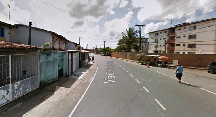 Maioria dos casos acontecem no final de linha do bairro   Reprodução   Google Street View - Foto: Reprodução   Google Street View