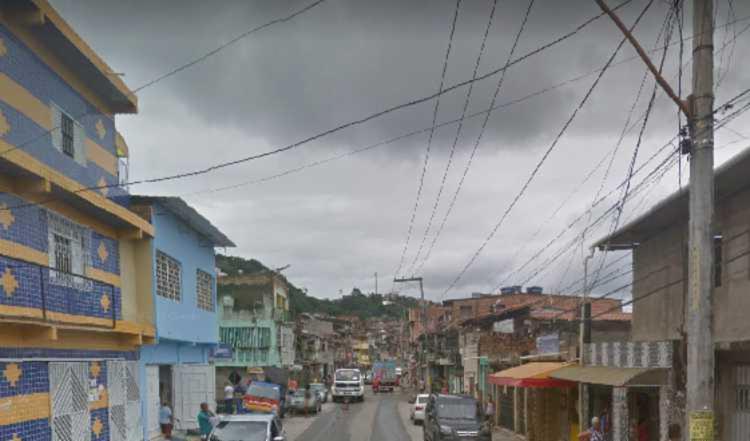 Crime aconteceu perto de uma igreja | Foto: Reprodução | Google Street View - Foto: Reprodução | Google Street View