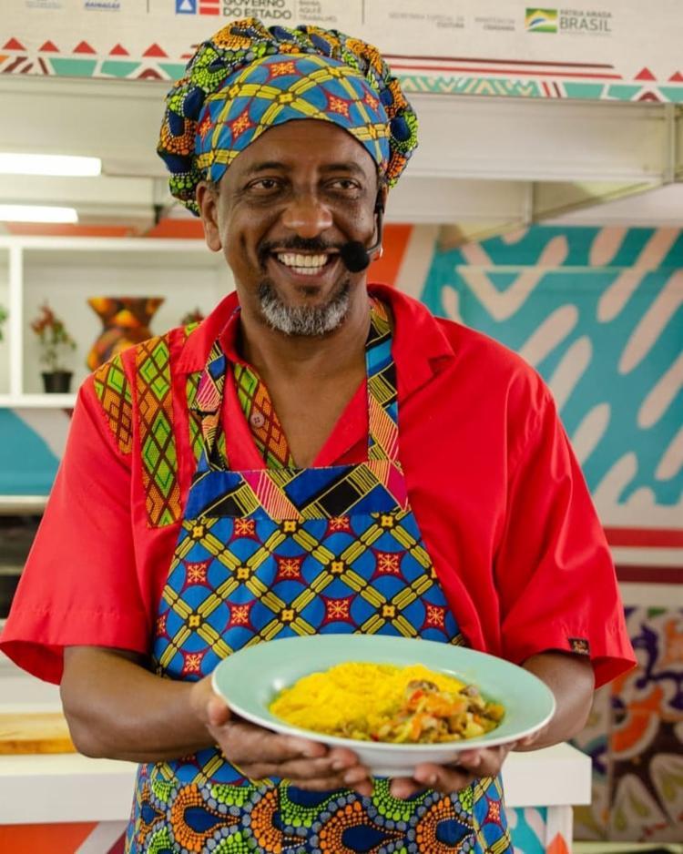 Afrochef Jorge Washington comanda projeto de música e gastronomia   Foto: Divulgação - Foto: Divulgação