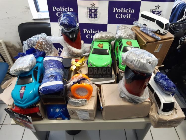 Os entorpecentes foram encontrados em 10 pacotes de itens triados na unidade - Foto: Divulgação | Ascom-PC