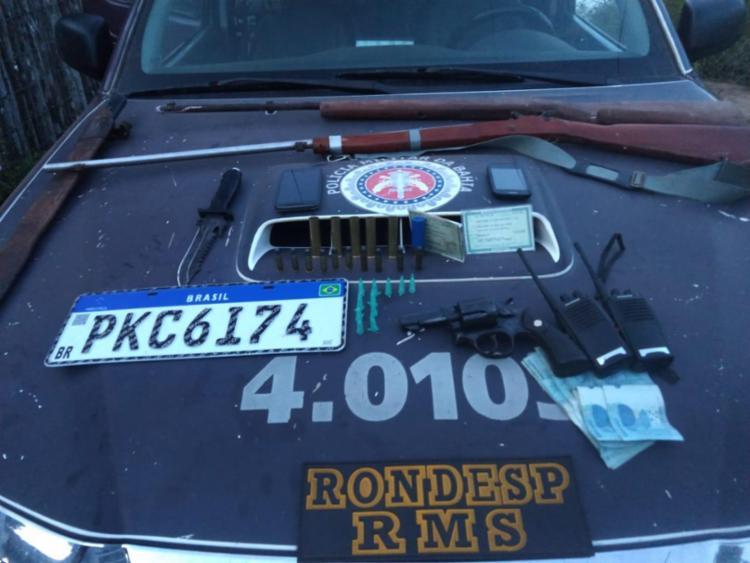 Foram encontrados revólveres e espingardas artesanais   Foto: Divulgação   SSP - Foto: Divulgação   SSP