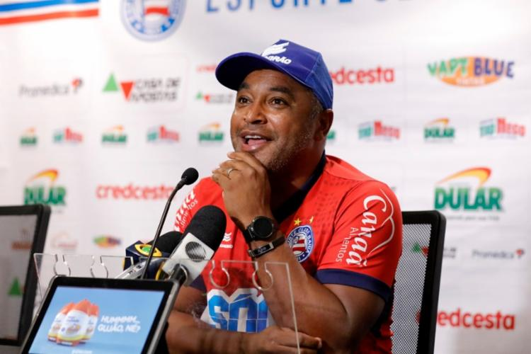 Treinador comemorou fim de jejum de nove jogos sem vencer | Felipe Oliveira | EC Bahia - Foto: Felipe Oliveira | EC Bahia