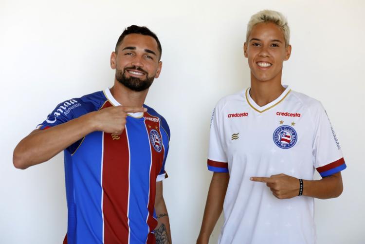 Camisas foram lançadas na semana passada sem o principal parceiro | Felipe Oliveira | EC Bahia - Foto: Felipe Oliveira | EC Bahia
