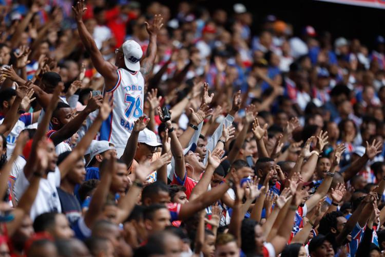 O Bahia tem a sexta melhor média de público da Série A | Raul Spinassé | Ag. A TARDE - Foto: Raul Spinassé | Ag. A TARDE