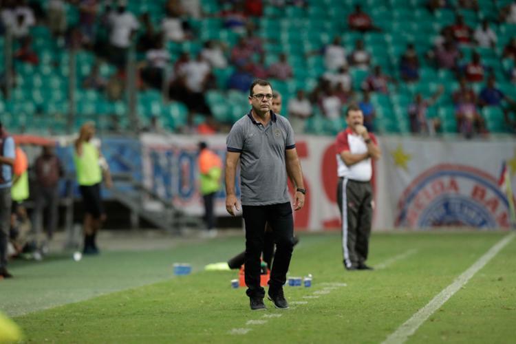 Enderson Moreira durante derrota para o Sergipe, na Arena Fonte Nova | Adilton Venegeroles | Ag. A TARDE