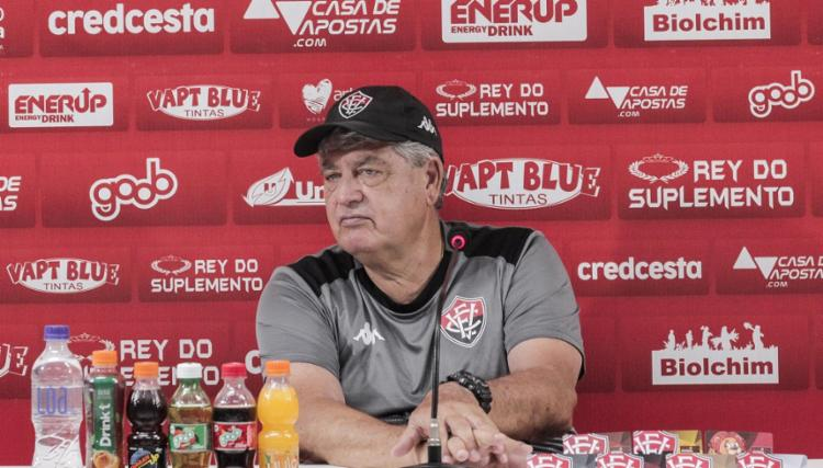 Geninho preferiu não comentar acerca de negociações | Foto: EC Vitória - Foto: Letícia Martins | EC Vitória