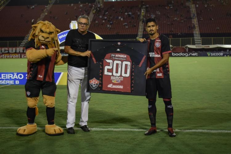 Ramon alcançou a marca de 200 jogos pelo Vitória e foi o jogador que mais atuou na temporada | Foto: Letícia Martins | EC Vitória