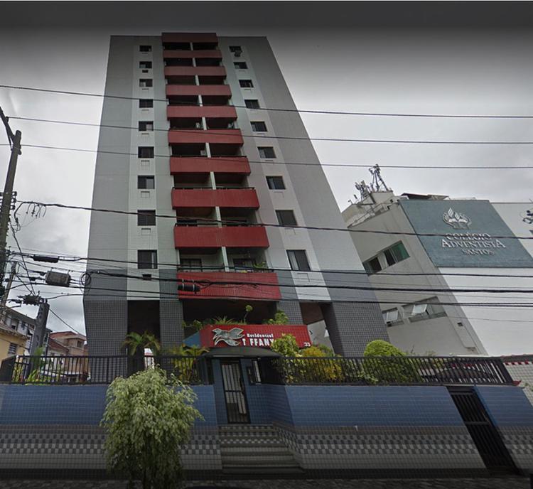 Edificio Tyffany, em Santos , pertence à Marinha e abriga a militares que servem na Capitania dos Portos | Foto: Reprodução | Google Maps - Foto: Reprodução | Google Maps