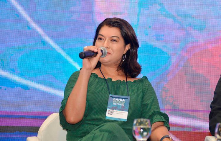 Painel teve mediação de Élbia Gannoum, presidente executiva da ABEEólica | Foto: Shirley Stolze | Ag. A TARDE - Foto: Shirley Stolze | Ag. A TARDE