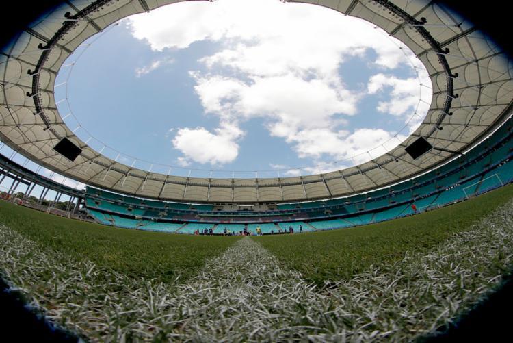 Time já entrou no clima ontem, em treino na Fonte   Foto: Felipe Oliveira   EC Bahia   Divulgação - Foto: Felipe Oliveira   EC Bahia   Divulgação
