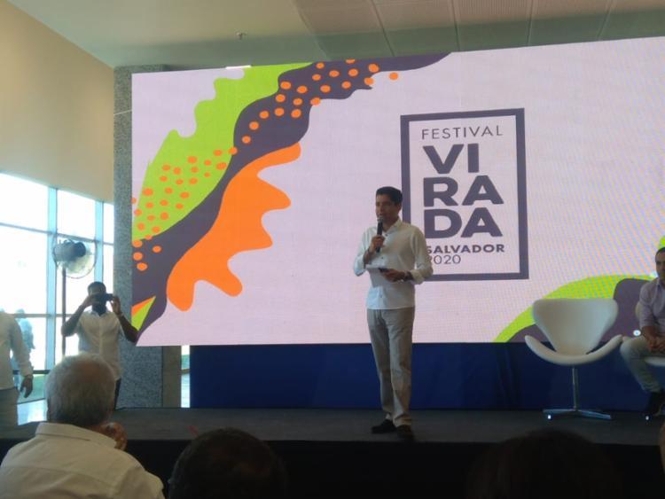 Prefeito anunciou a grande completa | Foto: Shagaly Ferreira | Ag. A TARDE - Foto: Shagaly Ferreira | Ag. A TARDE