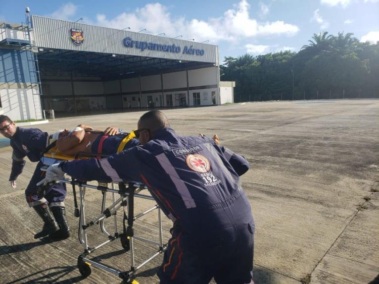 As vítimas foram transportados para o Hospital do Subúrbio, em Salvador | Foto: Divulgação | SSP - Foto: Divulgação | SSP