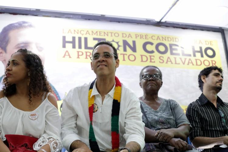Hilton Coelho disse que se candidata pela congregação de forças de esquerda: PSOL, PCB e Unidade Popular   Foto: Adilton Venegeroles   Ag. A TARDE - Foto: Adilton Venegeroles   Ag. A TARDE