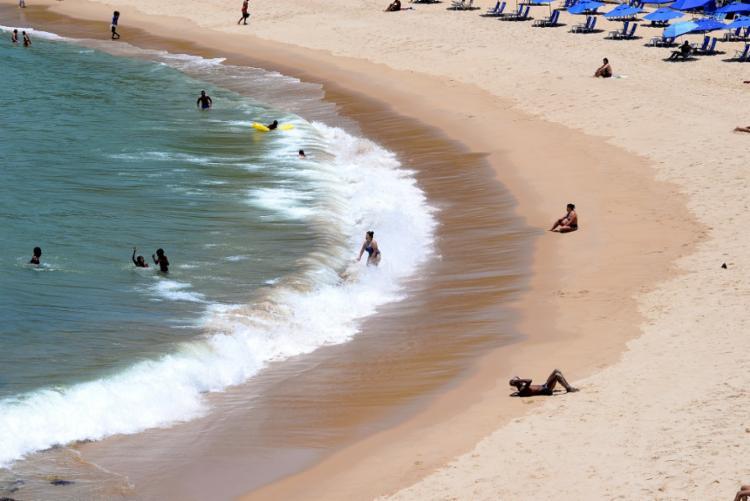 Além de Salvador, outras seis praias da Baía de Todos os Santos e Costa da Baleia se encontram inaptas ao uso   Foto: Shirley Stolze   Ag. A TARDE - Foto: Shirley Stolze   Ag. A TARDE
