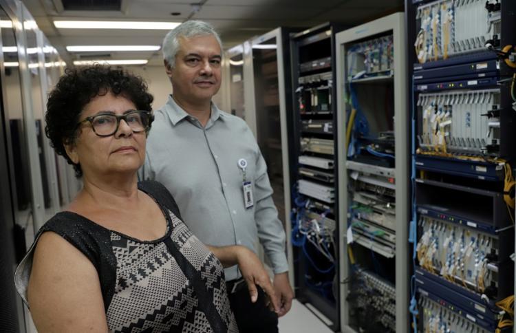 Claudete Alves e Luiz Cláudio Mendonça capacitaram a Tebelahia e os provedores para implantação da internet no estado