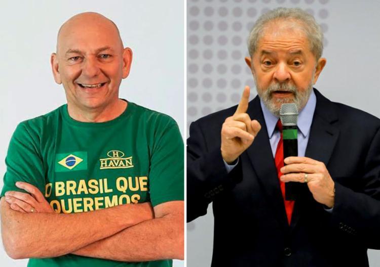Luciano Hang publicou vídeo com mensagem contra Lula | Fotos: Divulgação e Instituto Lula - Foto: Divulgação e Instituto Lula