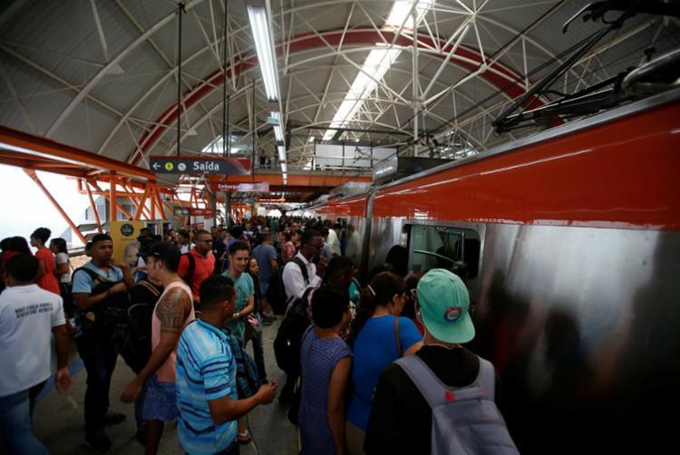 Ocorrência foi registrada entre as estações Retiro e Acesso Norte | Foto: Joá Souza | Ag. A TARDE - Foto: Joá Souza | Ag. A TARDE