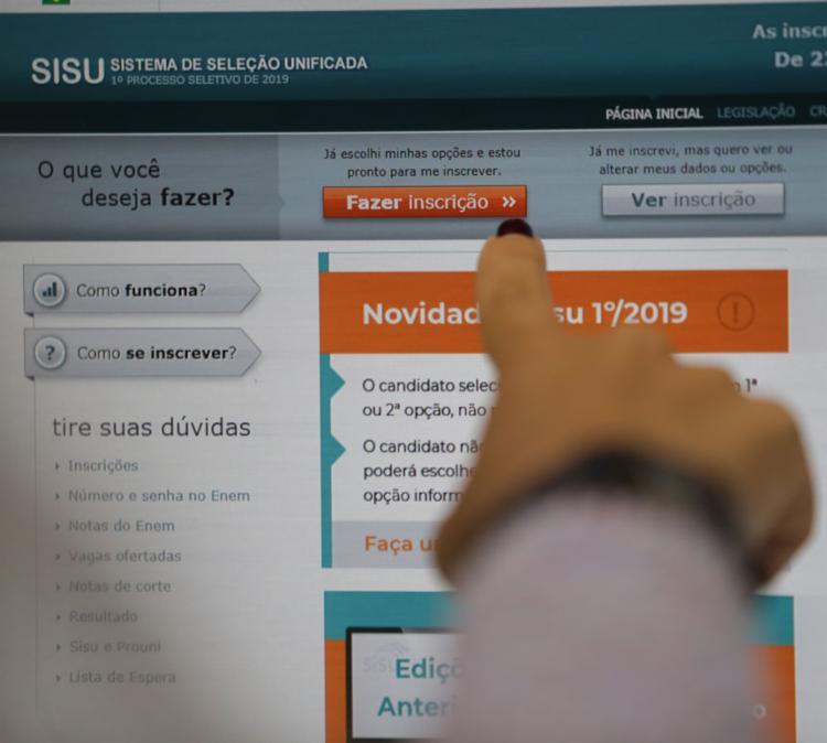 O Sisu oferece vagas em instituições públicas de ensino superior | Foto: Raphael Müller | Ag. A TARDE - Foto: Raphael Müller | Ag. A TARDE